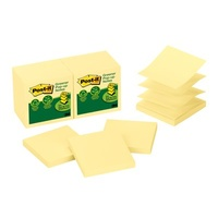 Post It Pop Up Notes 3M 73mm x 73mm Yellow Recycled R330-RP - pack 12