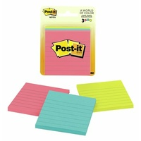 Post it note 73x73 assorted neon - pack 3