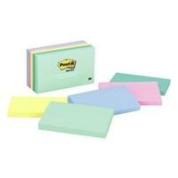 Post It Note 3M 655 AST Assorted Pastel 73 x 123mm 100 Sheet Pad Pack 5