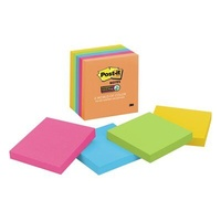 Stick on notes 75x75 Assorted Ultra Colours 3m 654-5uc - pack 5