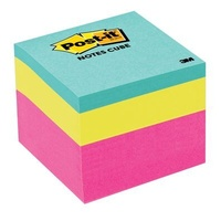 Stick on Notes Cube 48x48mm assorted Brights mini memo cubes - 400 little post-it notes