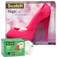 Magic Tape Scotch 810 19mm x 25M Pack 4 With Free Pink Stiletto - each