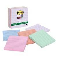 Post It 675 6SSNRP 98x98mm 5 Pads Per Pack Super Sticky Lined, Ruled, Recycled Bali Collection