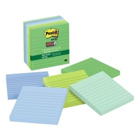 Post-It 675 6SST 98x98mm 6 Assorted Tropical 98 x 98mm Super Sticky  Post-It Recycled