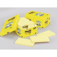 Stick on Notes * 75x125 Yellow Neon 3m 655-CT CITRUS cabinet pack - pack 18