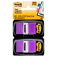 Post It Flag 3M 680 PU2 Twin Pack Purple