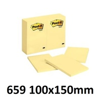 Stick on Notes 101x152 Yellow pastel 3m 659 0252445 - pack 12