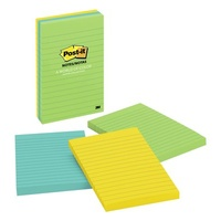 Post It Note 3M 660 3AU 98x149mm Assorted Ultra Pack 3