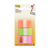 Post-It Flag 680  POY Translucent 25mm x 44mm Post-it® Flags, Bright Colours, 25mm, 20/Colour, 60/Pack