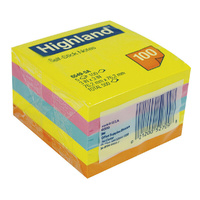 Stick on notes 75x75 Bright Colours Highland 6549-5A - pack 5