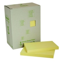 Post-It Note 655 RTY 76x127mm Yellow Recycled Tower Pack 16 3M Post-it® 100% Recycled Notes, 76mm x 127mm, Canary