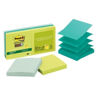 Post It Pop Up Notes R330 6SST Super Sticky 76 x 76mm Tropical Bora Bora