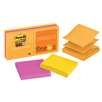 Post It Pop Up Notes 3M 73mm x 73mm Super Sticky Ultra R330 - pack 6