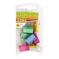 Foldback Clips 25mm Coloured Marbig 975602 Pack 8