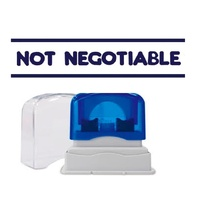 Stamp Pre-inked NOT NEGOTIABLE in blue EN154A3 Shiny - each