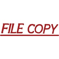 Stamp Pre-inked FILE COPY in Red shiny 1322 - each