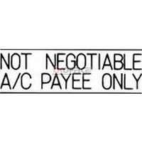 Stamp Pre-inked NOT NEGOTIABLE ACCOUNT PAYEE in black 1018 Xstamper - each