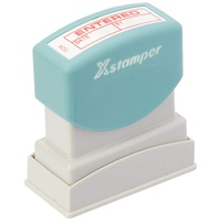Stamp Pre-inked ENTERED date By Red 1534 5015340 Xstamper - each
