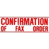 Stamp Pre-inked CONFIRMATION OF FAX ORDER 1351 Red 5013510 Xstamper - each
