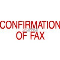 Stamp Pre-inked CONFIRMATION OF FAX 1356 Red 5013560 Xstamper - each