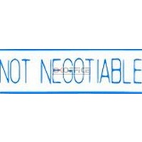 Stamp Pre-inked NOT NEGOTIABLE in blue 1124 5011243 Xstamper - each