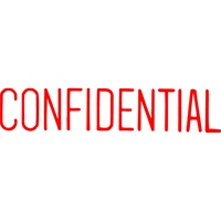 Stamp Pre-inked CONFIDENTIAL 1130 Red 5011300 Xstamper - each
