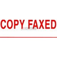 Stamp Pre-inked COPY FAXED Red 1546 Xstamper - each