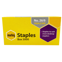 Staples 26/6 5000 fits most staplers Marbig 90300 - box 5000