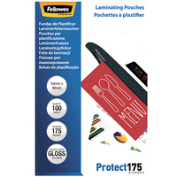 Laminating Pouch 54x86mm 175 micron pack 100 credit card size Gloss Fellowes 53076