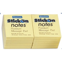 Stick on Notes 75x75 Yellow Beautone Cheap 11030 - dozen