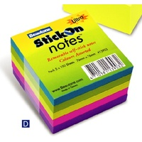 Stick on Notes 75x 75 Ultra Assorted Beautone 13903 - pack 5