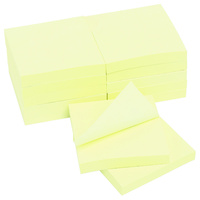 Stick on Notes 75x75mm Yellow Marbig Enviro 1813205 - pack 12