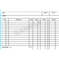 6x4 System Card Single ledger card Zions White 46RW Packet of 100 Blue ink on white card, printed both sides.