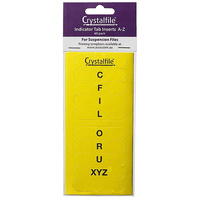 Indicator Tab Inserts Crystalfile A to Z Yellow Pack 60 111544C