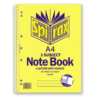 Book NoteBook Spirax 599 NoteBook 3 Subject - pack 5