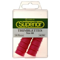 Thimblette Size 00 Box 10 46280  Rubber Superior Hangsell Finger Cones