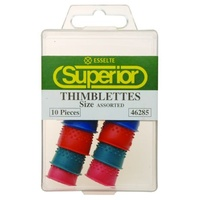 Thimblette ASSORTED SIZES box 10 Superior 46285 test your finger cone sizes