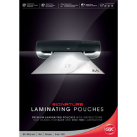 Laminating Pouch A4  80 Micron pack 100 Gloss Ibico BL80MA4