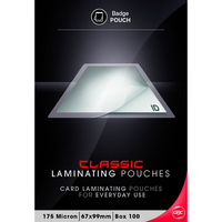 Laminating Pouch 67x99mm 175 micron pack 100 Gloss Ibico BL175m67x99