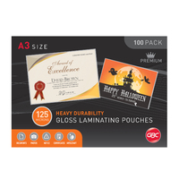 Laminating Pouch A3 125 Micron pack 100 BL125MA3 Ibico Gloss