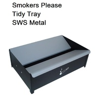 Smokers tidy bin fire proof metal - each
