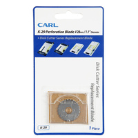 Carl Cutting Blade K29 Trimmer replacement Perforating Cut Carl K29 Fits DC200 DC210 DC230 -