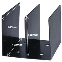 Book Rack Black SWS Plastic 46289 - each