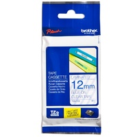 Brother TZe133 12mm x 8m Blue on Clear TZ-133 P-Touch - each