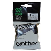 Brother P Touch Tape M931 12mm x 8M Black On Silver - each
