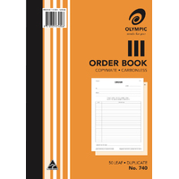 Book Order Book A4 Duplicate 740 Carbonless 07450 - each