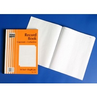 Book Plain Ruled Carbon Book 10x8 Duplicate 706 Carbonless 07360 - each