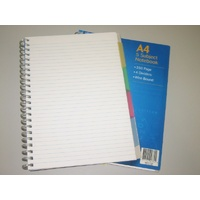Notebook A4 5 subject PP 250 page Dats 4384 - each