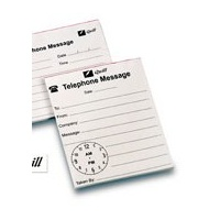 Telephone Message Pads Clock Face - pack 40