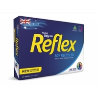 Copy Paper A4 White Laser inkjet or Photocopy White 50 percent recycled 80gsm Reflex - ream 500